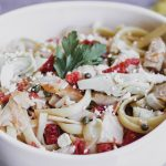Mediterranean Chicken Pasta Salad With Feta Crumbles-2