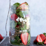 Strawberry Lentil Salad With Mixed Greens