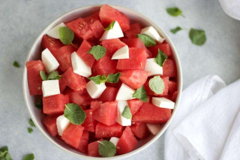 Watermelon Caprese Salad With Espresso Balsamic