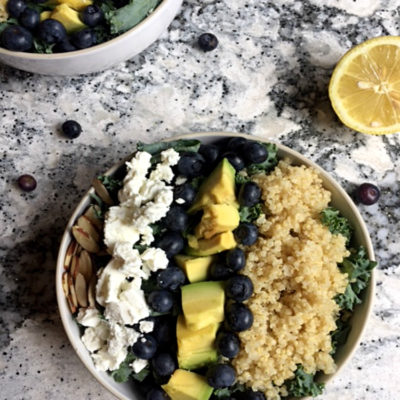 Blueberry, Avocado And Kale Superfood Salad