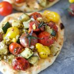 Chicken & Veggie Pesto Naan Stackers