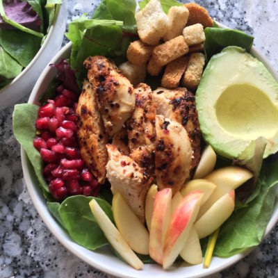 Honey Crisp Apple, Avocado And Pomegranate Fall Salad