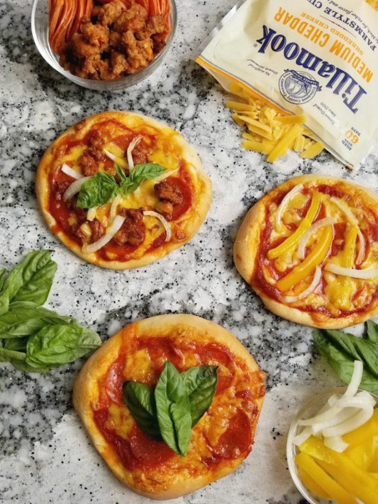 Individual Mini Pizzas