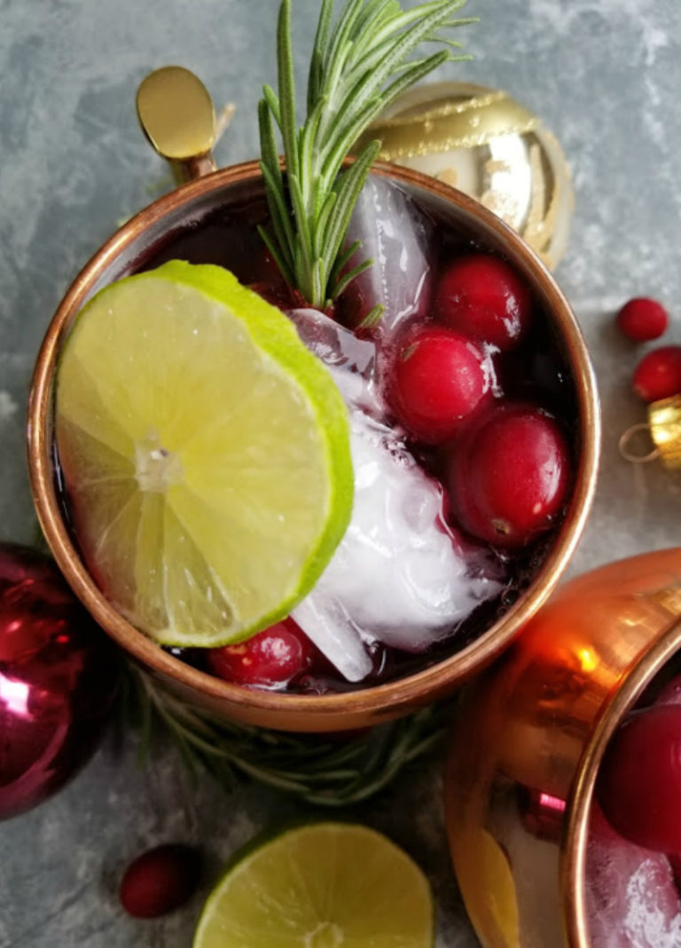 Cranberry Moscow Mule Two Ways