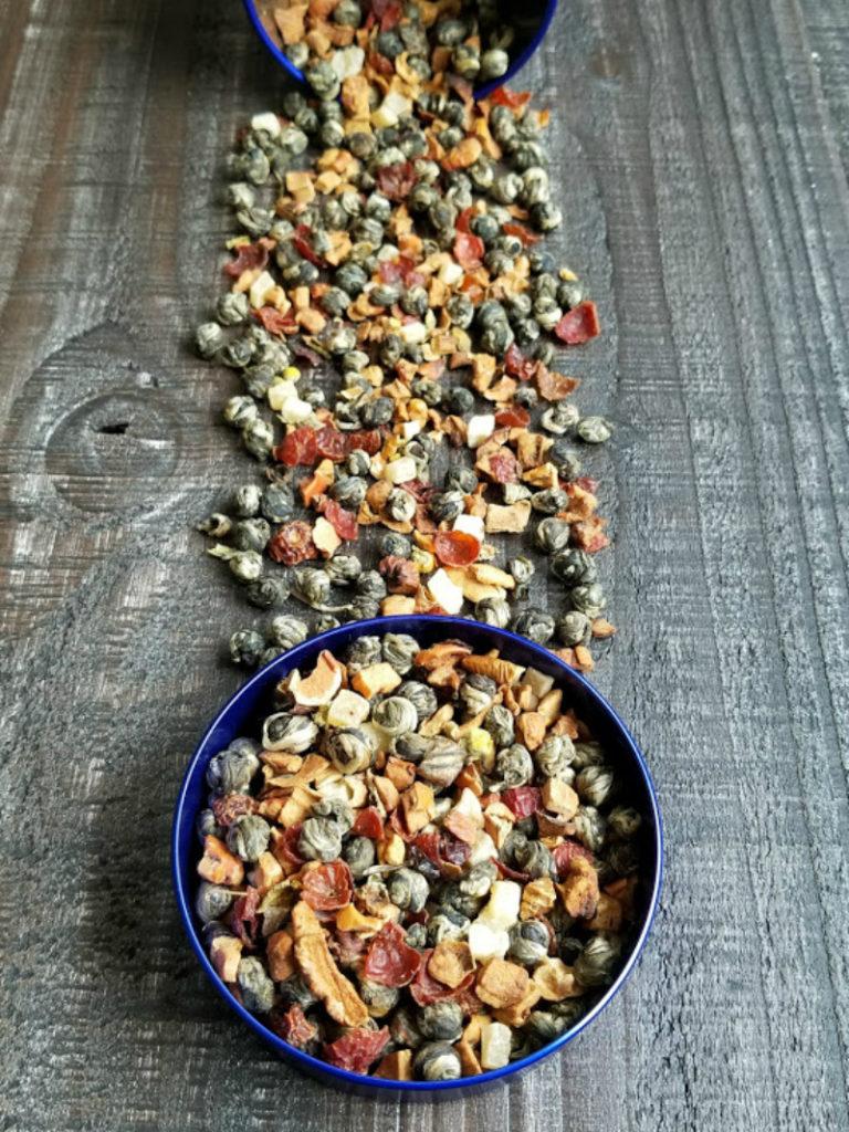 Jasmine Dragon Pearls/Peach Tranquility Tea Blend