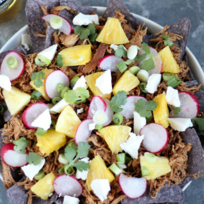 Chipotle Honey Chicken Nachos