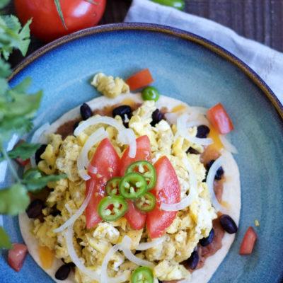 Huevos Rancheros With Green Chile