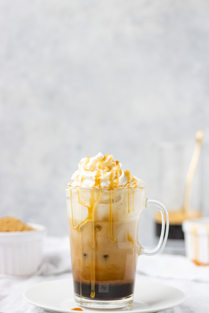 Iced Brown Sugar Caramel Latte