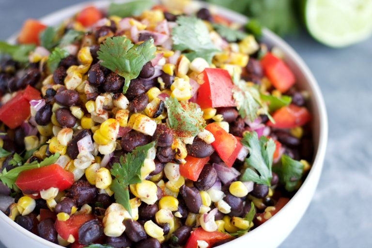 Grilled-Sweet-Corn & Black Bean Salad