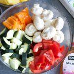 Veggies and marinade