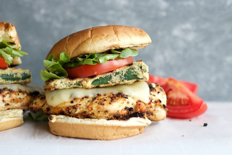 Easy Grilled Zucchini Chicken Burgers