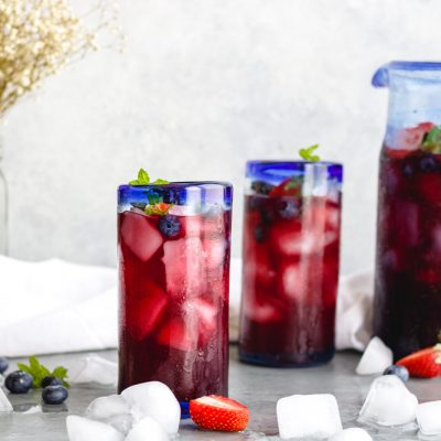 Sparkling Pomegranate Berry Punch