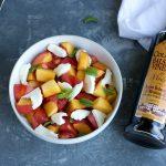 Stone Fruit Peach Caprese Salad