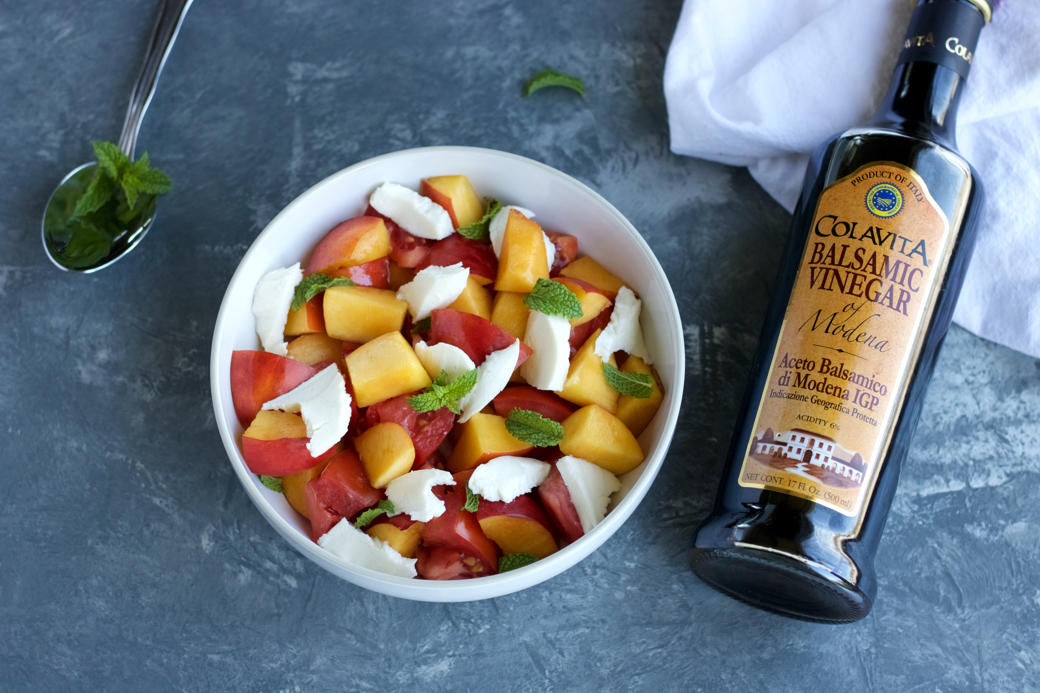 Stone Fruit Peach Caprese Salad