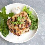 Herbed Garlic Grilled Pork Chops