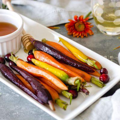Sweet Honey Glazed Rainbow Carrots
