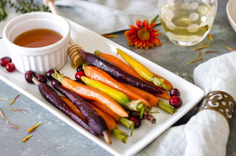 Sweet-Honey Glazed Rainbow Carrots