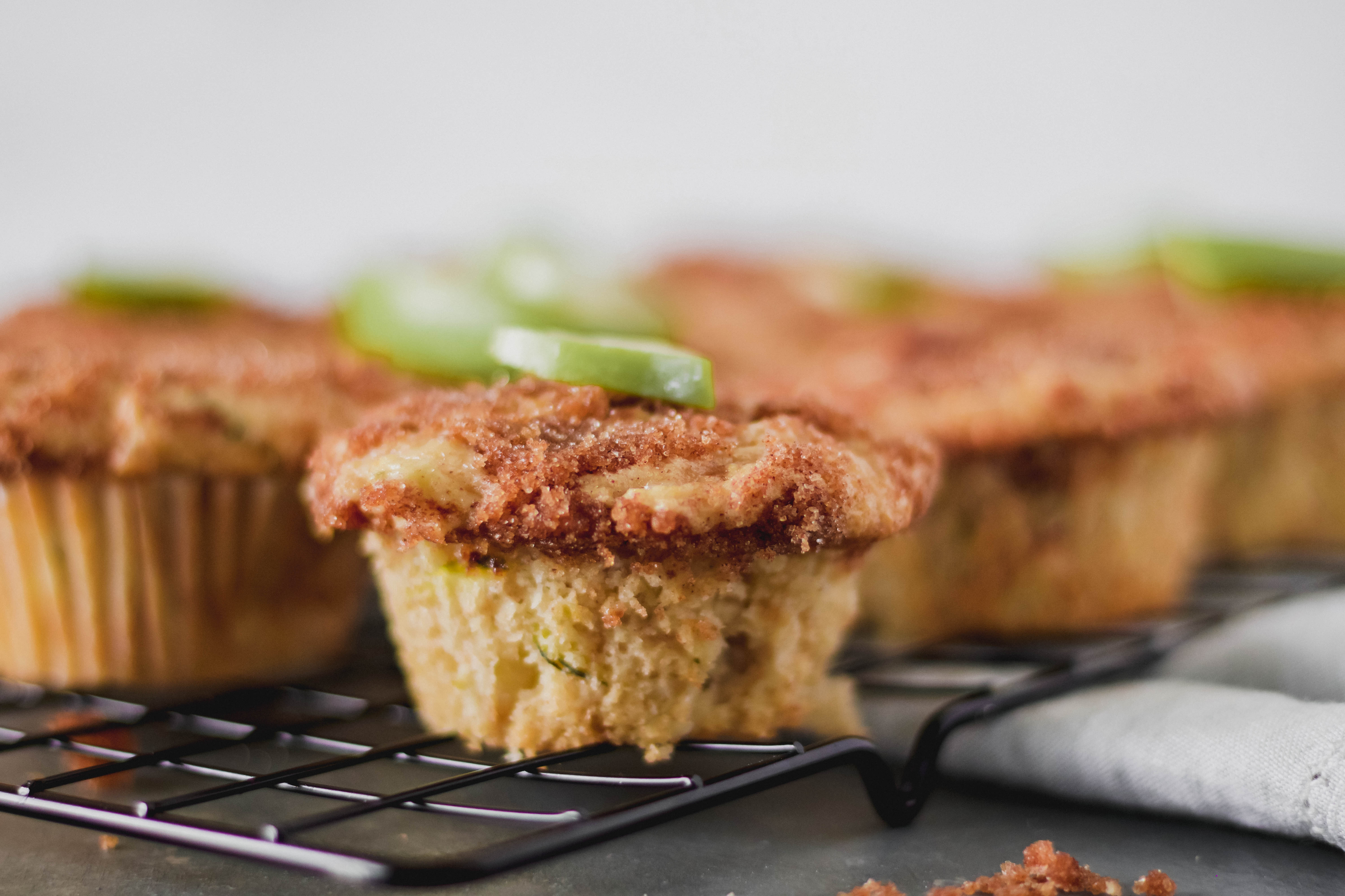 Apple Cinnamon Zucchini Muffins With Cinnamon Crumb Topping-1
