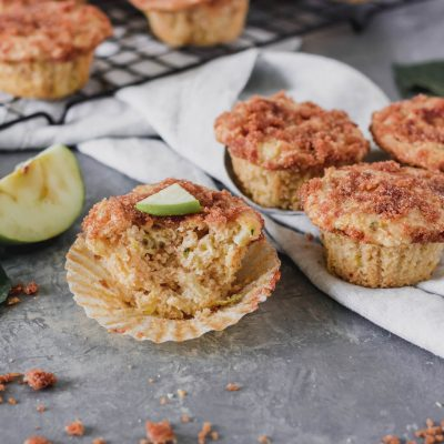 Apple Cinnamon Zucchini Muffins w/ Cinnamon Crumb Topping