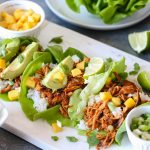 Sweet & Spicy Pulled Chicken Lettuce Wraps-1
