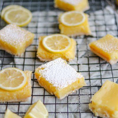 Shortcut No-Fuss Meyer Lemon Bars
