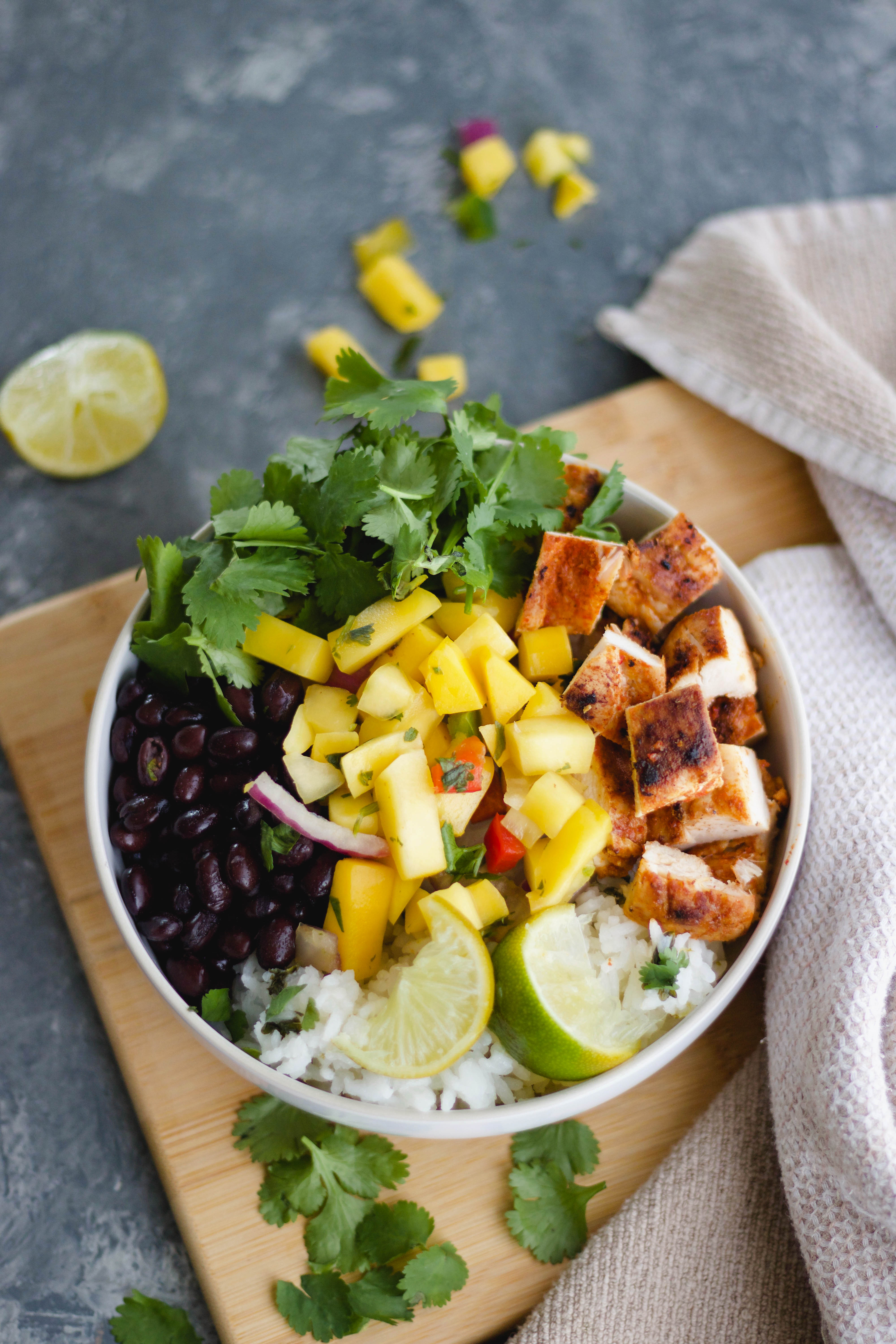 Chile Lime Chicken Burrito Bowls-1
