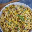 Creamy Rotini Pasta with Sweet Corn and Sausage-1