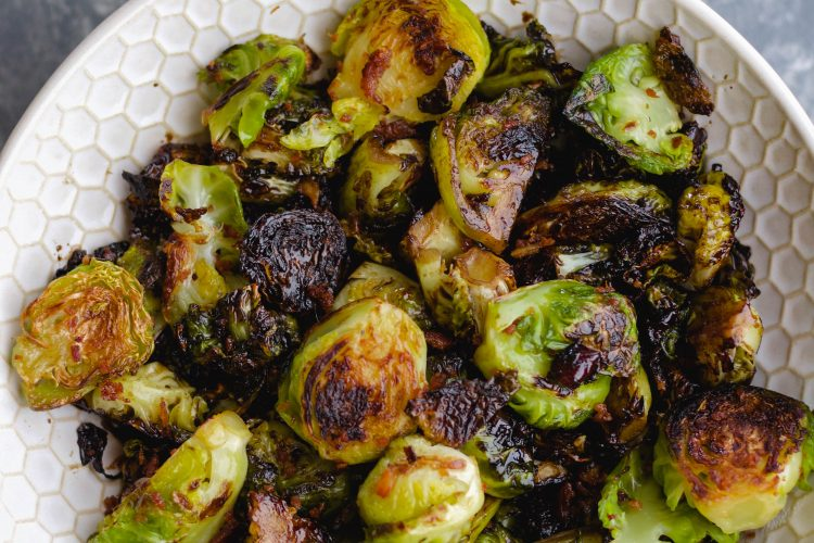 Charred Balsamic Brussels Sprouts