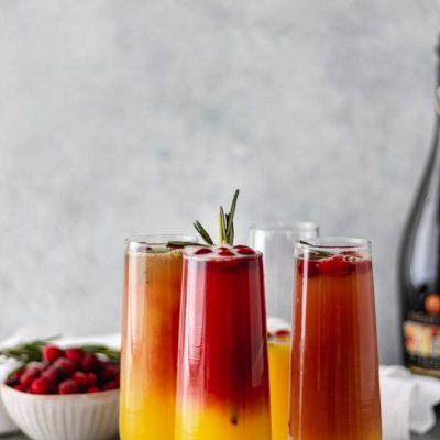 Christmas Cranberry Mimosas