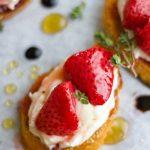 Honey-Thyme Roasted Strawberry Crostini - Blog-2