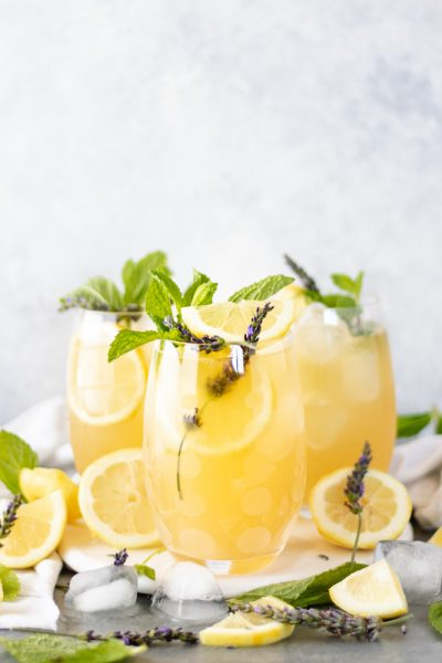 Boozy Mint-Lavender Lemonade Punch - Blog-2