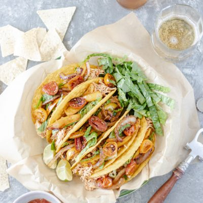 Shredded Chicken Crunchy Tacos