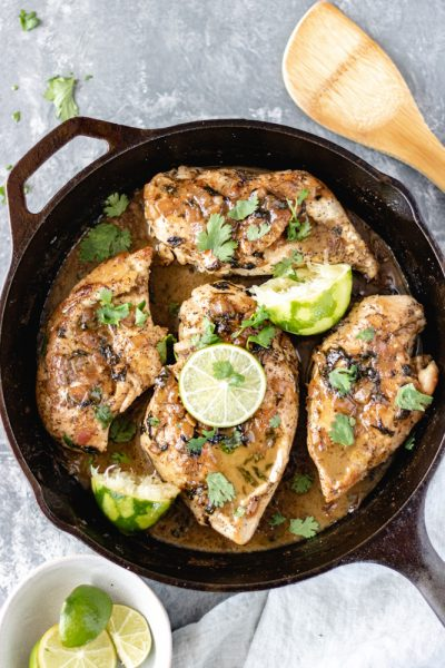 Creamy Coconut Cilantro-Lime Chicken - Blog-1