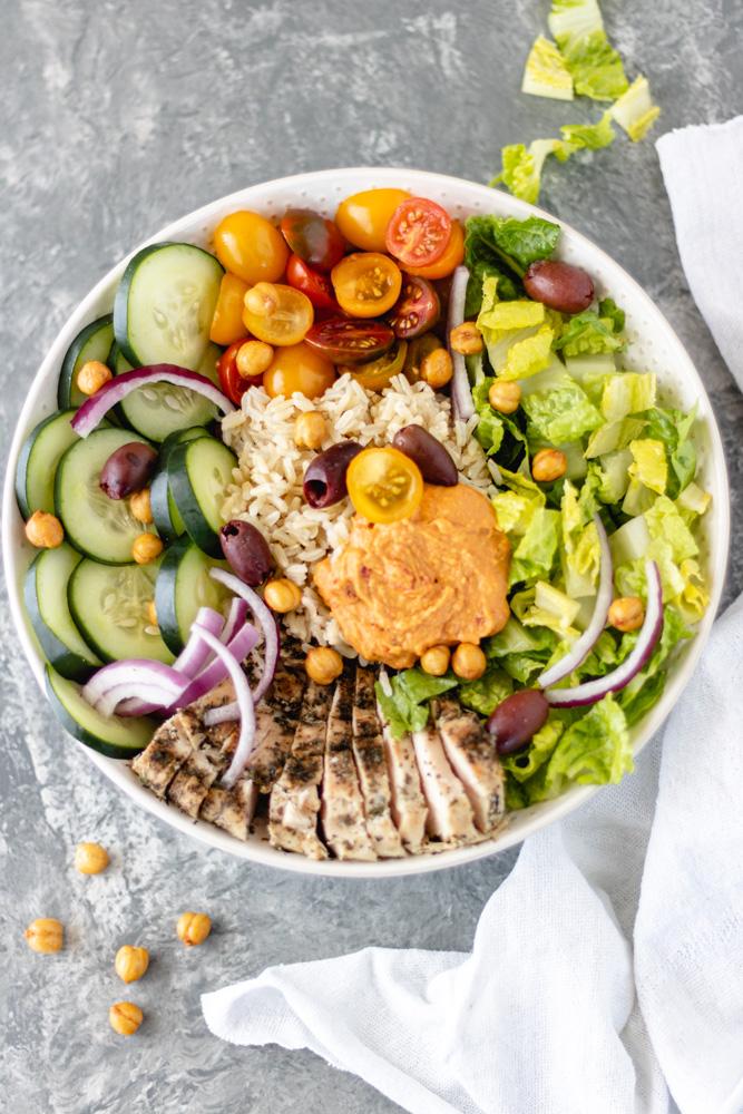 Mediterranean Chicken Hummus Bowls - Blog-1