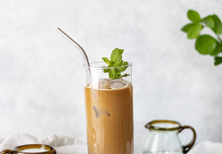The Best Iced Nespresso Mint Lattes