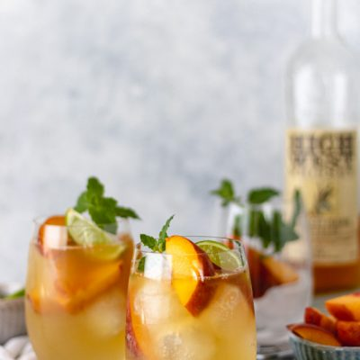 The Best Summer Peach Whiskey Mule