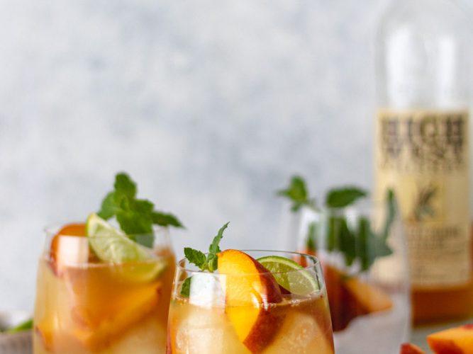 The Best Summer Peach Whiskey Mule