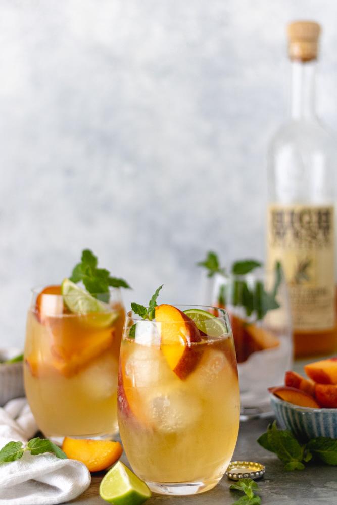 The Best Summer Peach Whiskey Mule - Blog-1