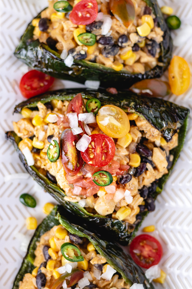 Easy Stuffed Poblano Peppers (DF) - Blog-2
