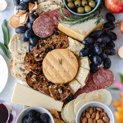 Beautiful Autumn Charcuterie Board
