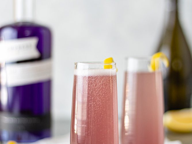 French 75 Cocktail with Empress