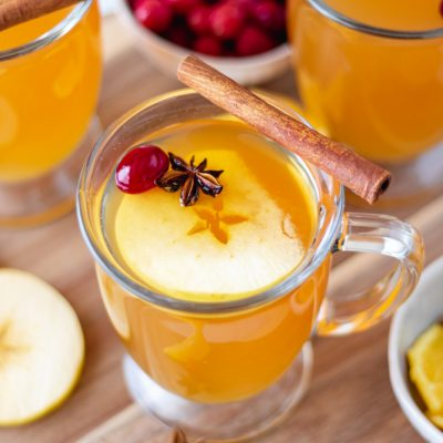 Hot Mulled Apple Cider (Slow Cooker)
