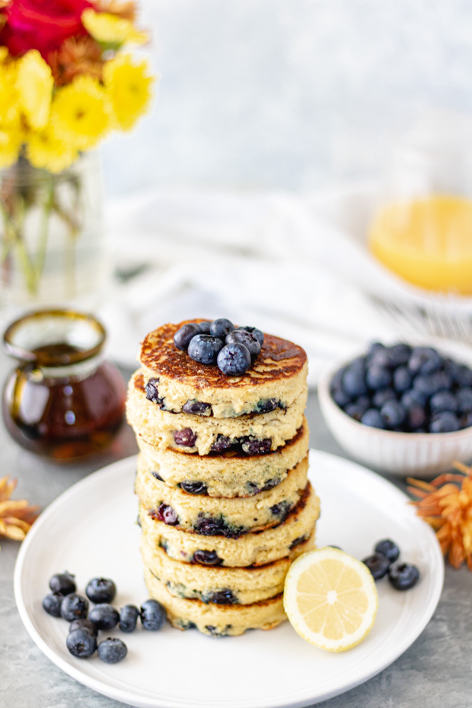 Blueberry Lemon Ricotta Pancakes - Blog-3