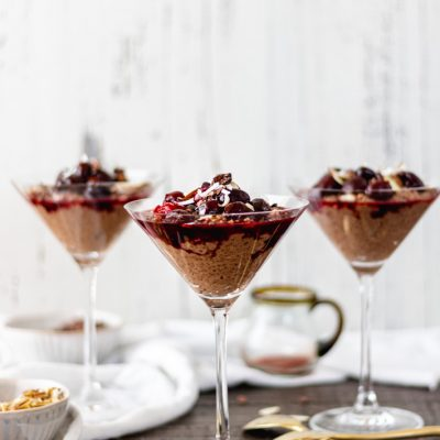 Decadent Chocolate-Cherry Chia Pudding