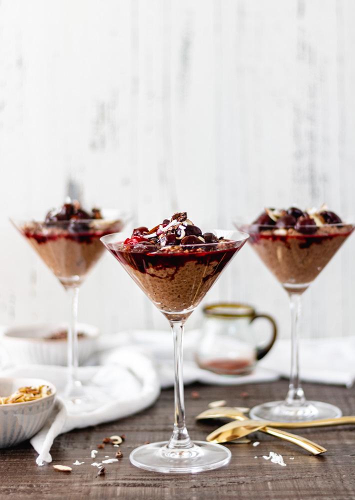 Decadent Chocolate-Cherry Chia Pudding