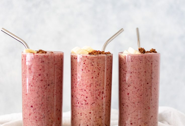 Dark Cherry Breakfast Smoothie (Healthy & Delicious)