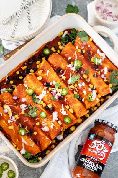 Easy Southwest Chicken Enchiladas - Blog-1