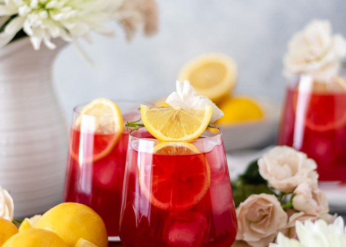 Iced Passion Tea Lemonade (with Tazo)