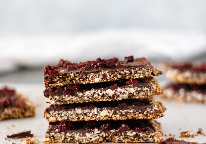 Chocolate Cherry Quinoa Bars (Healthy & Satisfying)